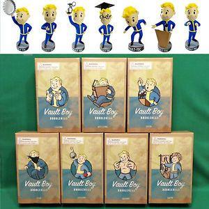 "Fallout 3 Vault Boy 5"" Bobblehead (Series 2 Complete Set of 7) Vault-Tec Pip Boy"