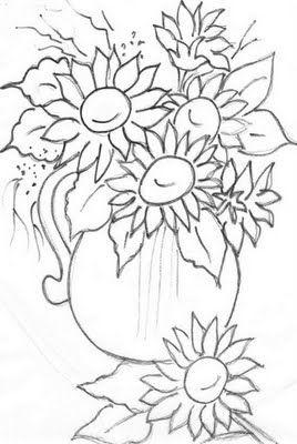 Riscos de Flores | Pintura em Tecido