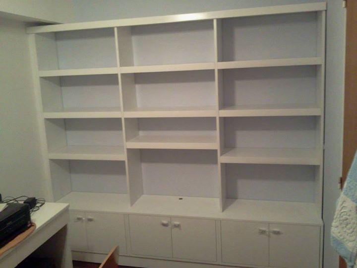 Biblioteca Laqueado blanco.
