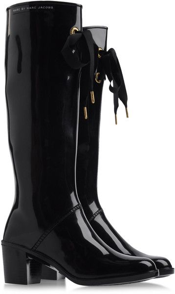 Marc by Marc Jacobs Heeled Wellington Boots - Lyst - Great for a rainy day in the garden!