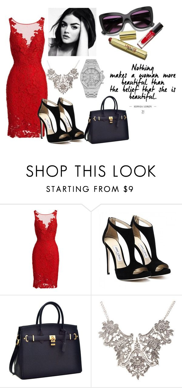 #163 by potato-cupcake on Polyvore featuring ML Monique Lhuillier and Audemars Piguet
