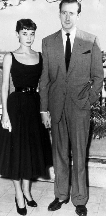 Audrey Hepburn & James Hanson circa 1951.  After having a wedding dress made, Audrey called off the wedding in 1953.  Hanson was a businessman.