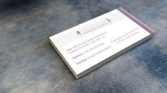 Physiotherapist Business Card | Gyógytornász névjegy design
