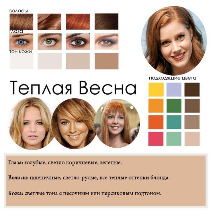Цветотипы внешности описание и фото женские