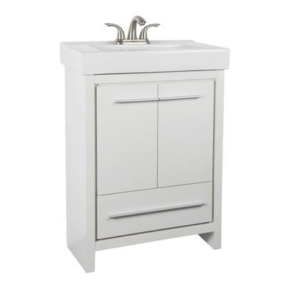 Glacier Bay Romali 24 Inch Vanity With Ceramic Sink Yg600w N Home Depot Canada Bathroom