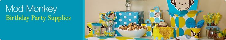 Mod Monkey Party Supplies