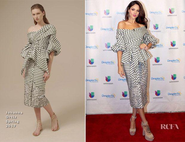 Eiza Gonzalez In Johanna Ortiz - Despierta America - Red Carpet Fashion Awards