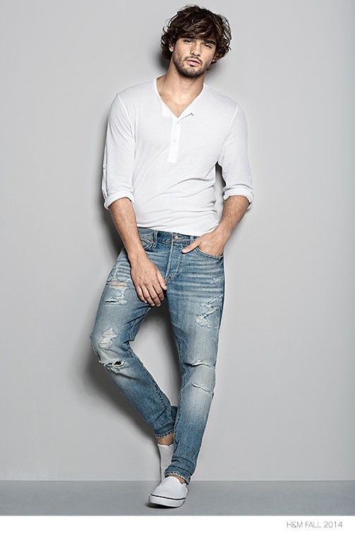 H&M Denim Fit Guide Featuring Marlon Teixeira image HM Jeans Tapered Fit Marlon Teixeira
