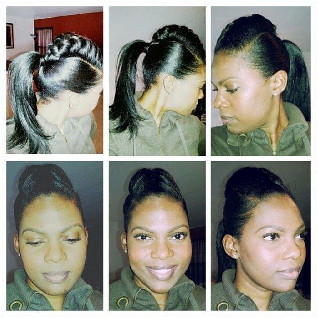 Inverted braid Mohawk braid styles Transitioning hair