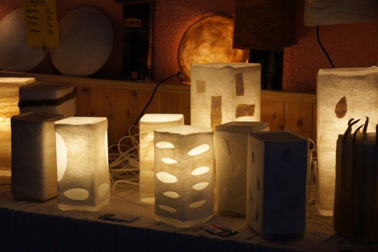 #felted #lamps http://www.afieltrarte.com/