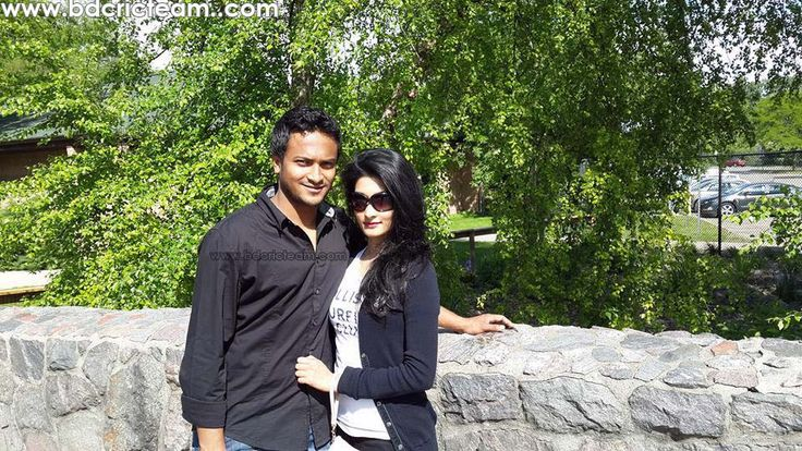 World #1 all rounder Shakib Al Hasan and his wife Umme Ahmed Shishir during their honeymoon at USA