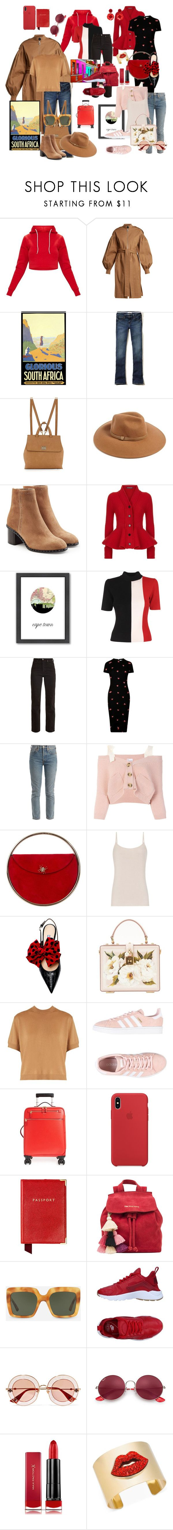 """""""Cape Town"""" by mynextlife ❤ liked on Polyvore featuring Osman, Hollister Co., Neiman Marcus, Forever 21, rag & bone, Alexander McQueen, Americanflat, Solace, Eve Denim and Victoria Beckham"""