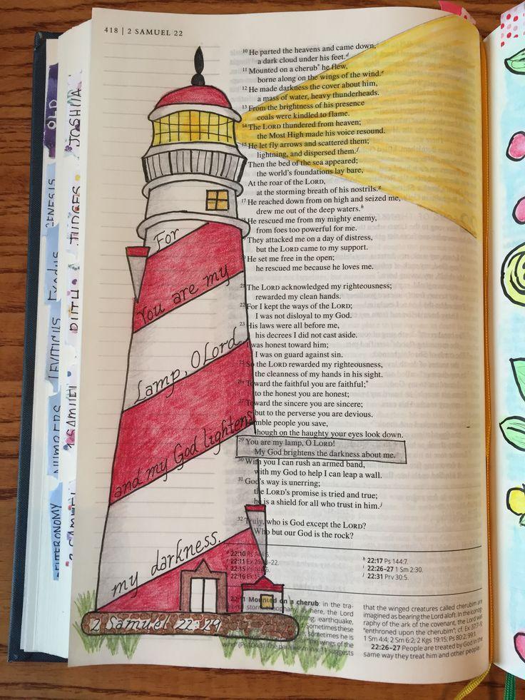2 Samuel 22:29 Bible journaling