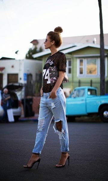 Look Calça Jeans: T-shirt