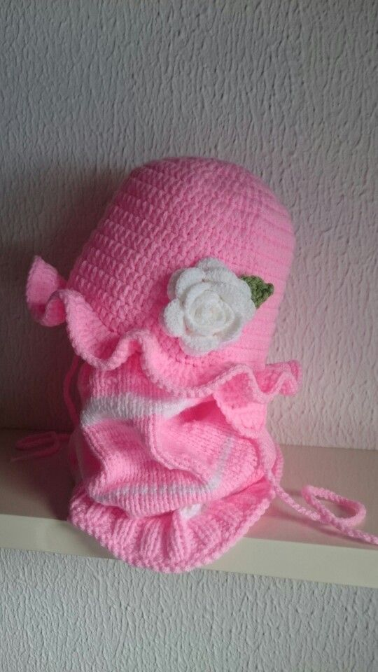 Crochet And Knitted Hat And Scarf