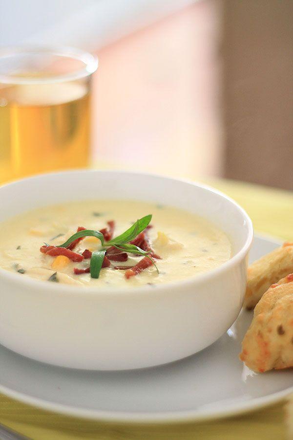 Creamy corn & chicken soup