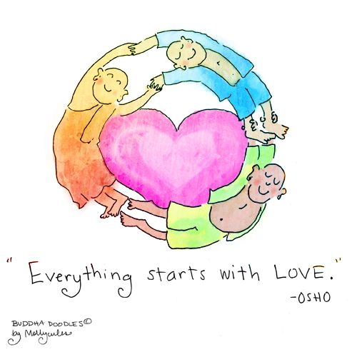Buddha Doodle - 'Start with Love'