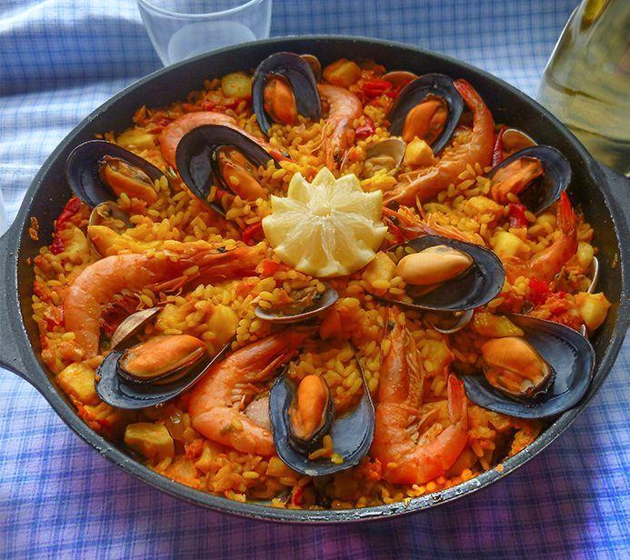 Paella De Marisco Receta Paso A Paso Receta Paella De Mariscos Mariscos Recetas Como Hacer Paella