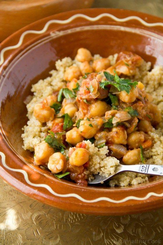 Moroccan Chickpeas w/ Quinoa – Μαροκινά Ρεβίθια με Κινόα