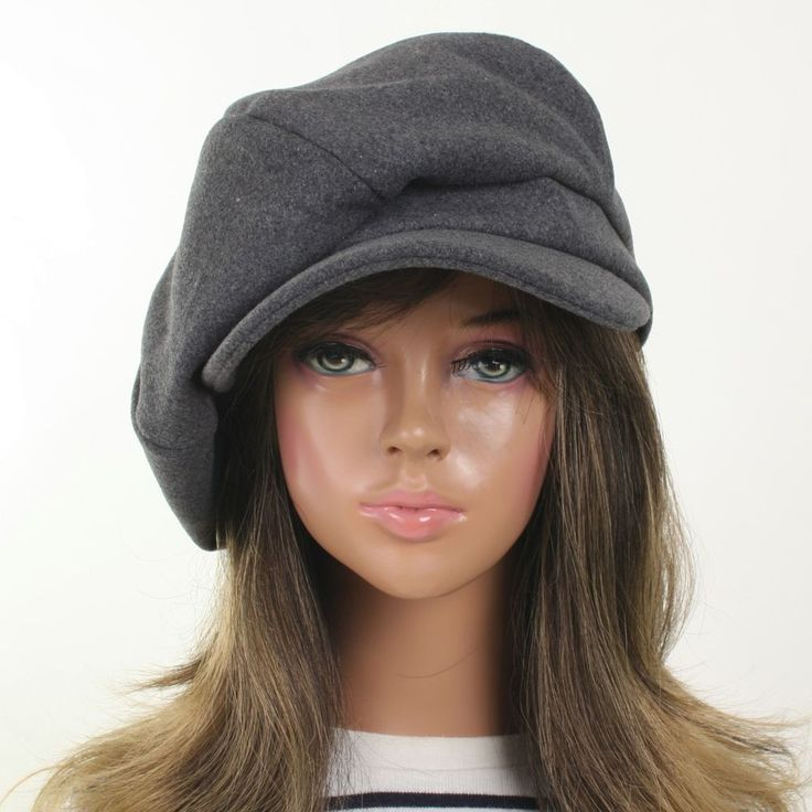 Women Wool Unisex 6Panel Applejack Cap Fashion Gatsby Newsboy Driving Cabbie Hat #VCMJ #NewsboyCabbie