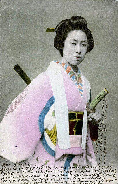 BADASS 19th century FEMALE SAMURAI, ( ONNA BUGEISHA)