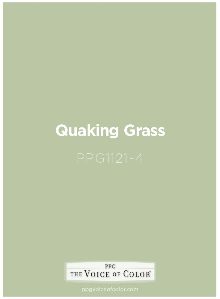 Paint Color Quaking Grass PPG1121-4 by PPG Voice of Color