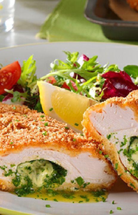Low FODMAP and Gluten Free Recipe - Herby chicken Kiev - http://www.ibssano.com/low_fodmap_recipe_herby_chicken_kiev.html