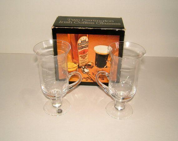 Dartington Crystal Irish Coffee Glasses by Frank by BiminiCricket, $50.00