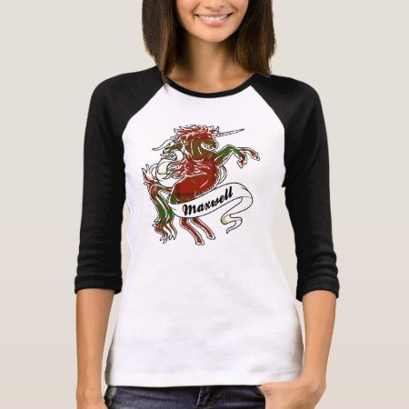 Maxwell Tartan Unicorn T-Shirt - tap, personalize, buy right now!