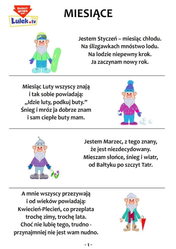 Wierszyki miesiące cz.1 » Uczę się - Ćwiczenia - Domowy Przedszkolak