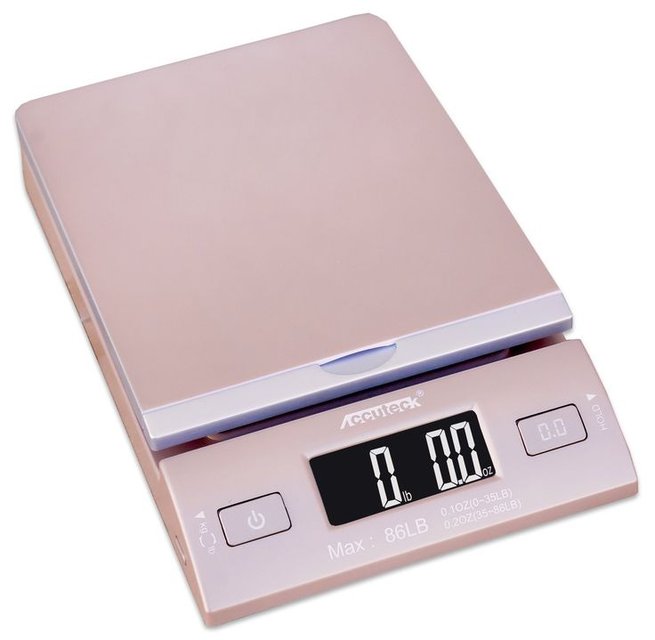 Accuteck DreamGold 86 Lbs Digital Postal Scale Shipping Scale Postage With USB&AC Adapter Limited Edition