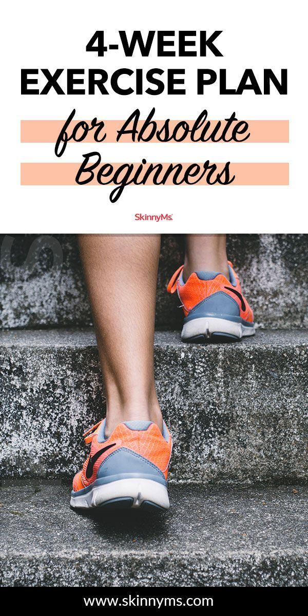 4-Week Exercise Plan for Absolute Beginners with Calendar – #Getfit