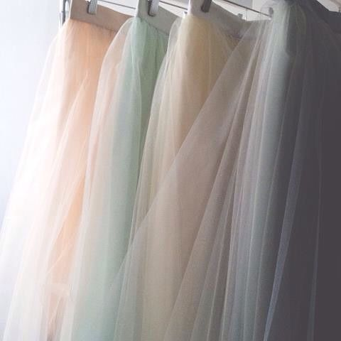 Alexandra grecco tulle skirts for the bridesmaids