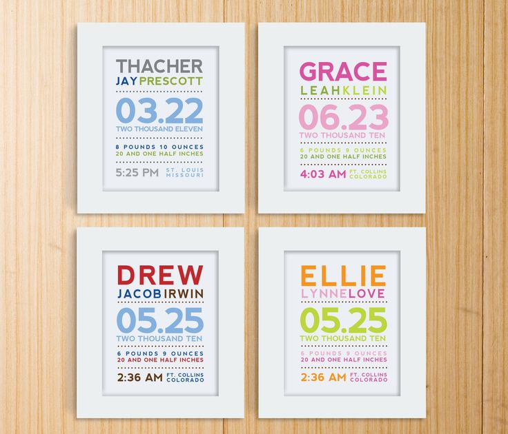 kids birth date info, really cute idea