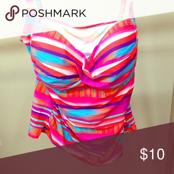 Bright Tankini Top Beautiful Tankini top. Pair with any black or neutral bottoms. La Blanca Swim