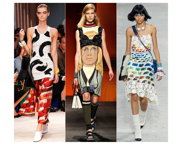 From Yves Saint Laurent's famous Mondrian dress, to the diverse art-world collaborations instigated by Marc Jacobs' at Louis Vuitton, fashio...: Spring Summer 2014, Fashion Weeks, Trends 2014, 2014 Fashion, Prada Spring, Milan Fashion, Fashion Trends, Spring 2014, Ss 2014