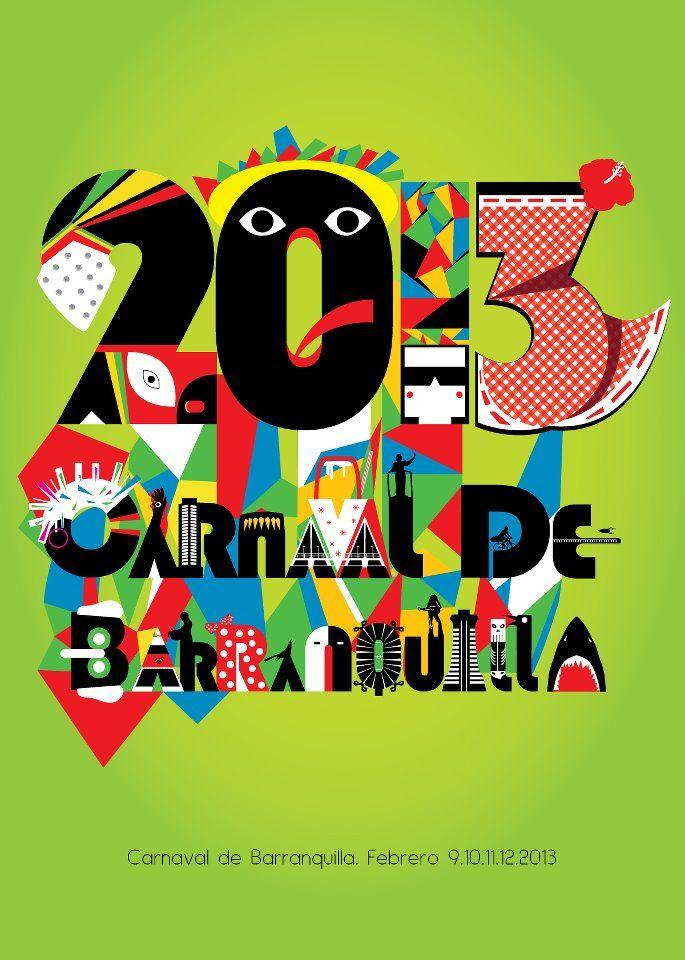 Nuevo Afiche del Carnaval de Barranquilla 2013