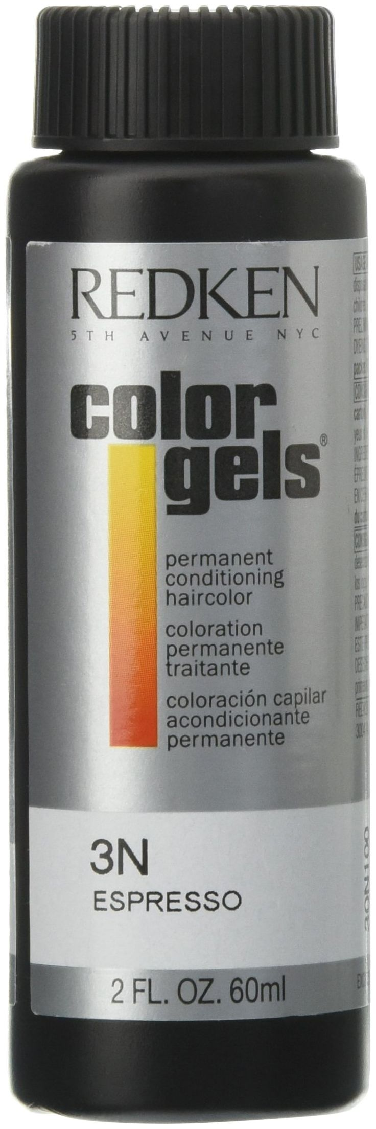 Redken Color Gels Permanent Conditioning 3N Espresso Hair Color for Unisex, 2 Ounce. Use it to brighten, darken, change or correct, or for highlighting and creative color effects. Color gels provides exceptional gray coverage. Results are long lasting and hair is left in superior condition.