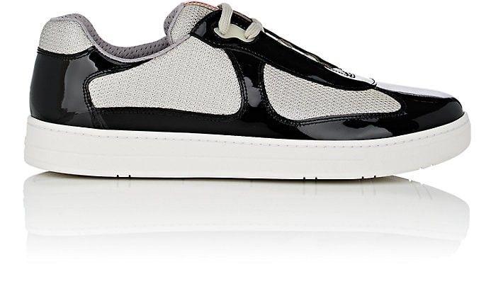 3e7a55c6 PRADA Men's Patent Leather & Mesh Sneakers. #prada #shoes # | Prada ...