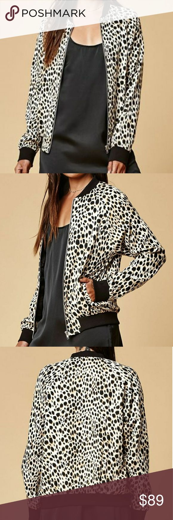 Motel Cheetah Print Bomber Jacket The super chic bomber jacket has a collarless neckline, long sleeves and elastic hem. You can style this jacket with almost any outfit 😉  Content: 100% Rayon  Condition: NEW | NWT   Don't like the price? Send me an offer! Offers welcomed through offer button only please ☺  NO TRADES! NO 🅿🅿! NO ♏eRc! Motel Rocks Jackets & Coats
