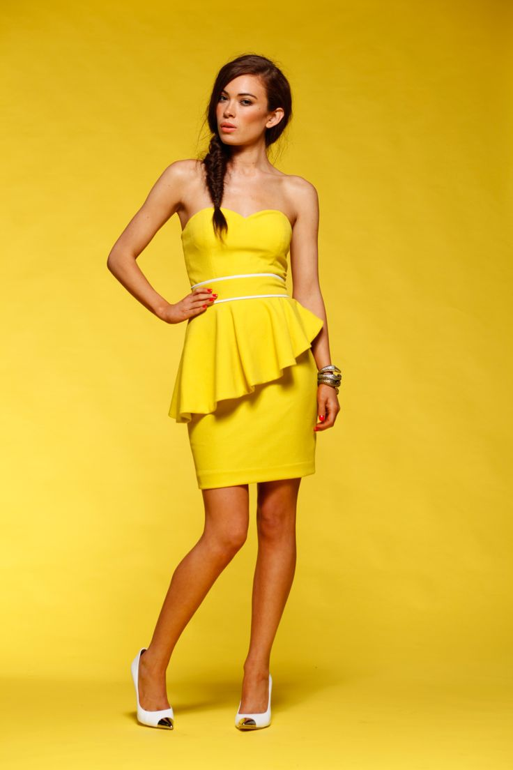 Honey & Beau - Electric Bloom Dress in Citrus HD55103