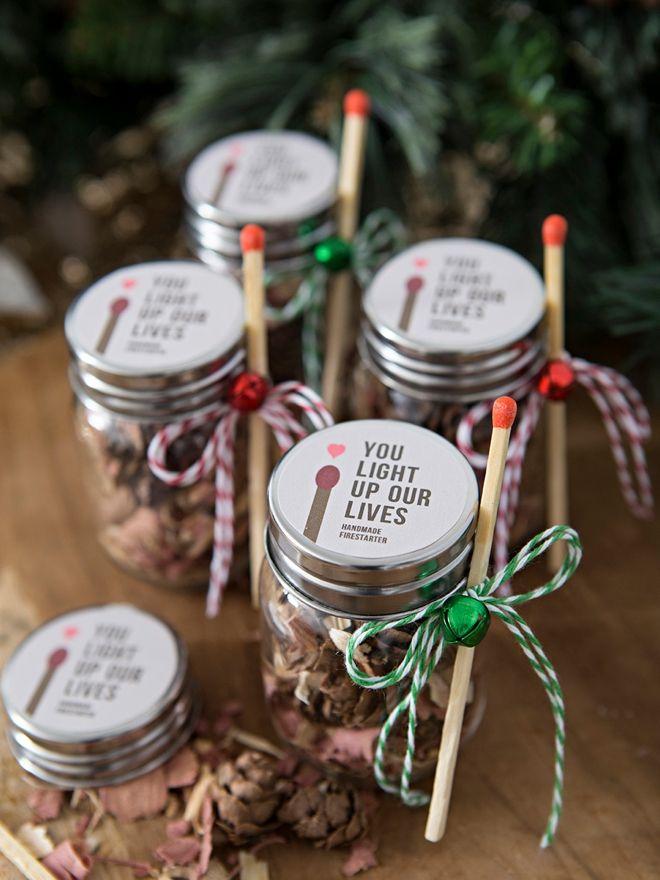 Omg These Diy Fire Starter Wedding Favor Jars Are The Cutest Wedding Favour Jars Favour Jars Pinecone Fire Starters