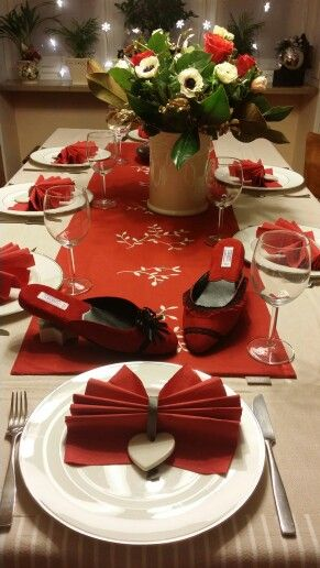 2016 New Year's Eve table with Lurabo slippers