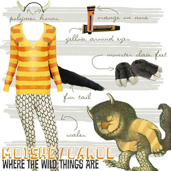 Fashion with a Budget!: HALLOWEEN: MOISHE / CAROL OF WHERE THE WILD THINGS ARE