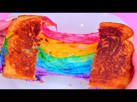 "Rainbow Grilled Cheese is the Prettiest, Kid-Friendly Sandwich ""for Zophia"" but really for me..."