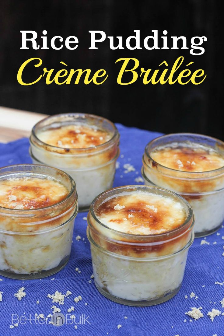 Rice Pudding Creme Brulee Recipe - this dessert is so easy to make, but it tastes like a gourmet treat!