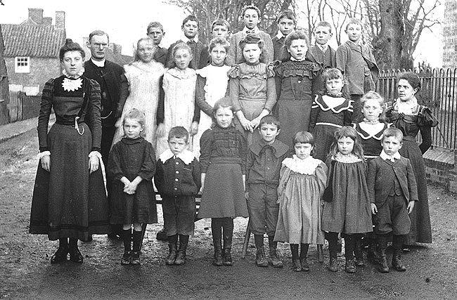 Victorian School Children Vintage Kids Photo Old Victorian