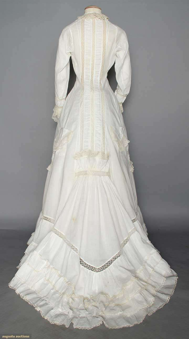 Augusta Auctions- 1877 morning gown