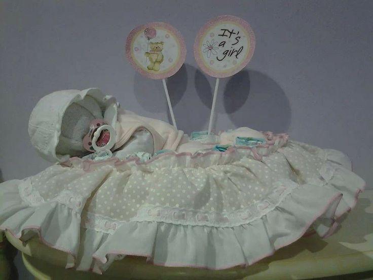 Bambina di pannolini in cesta! www.minimondodianita.com