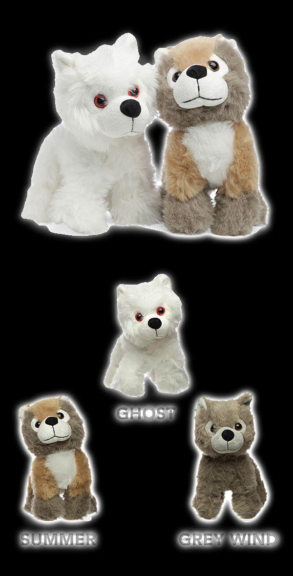 Game of Thrones Direwolf Pup Plush | Choose Ghost, Grey Wind, Summer, Nymeria, Lady, or Shaggydog